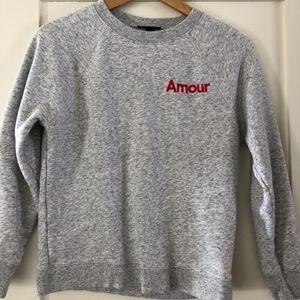J crew grey sweatshirt